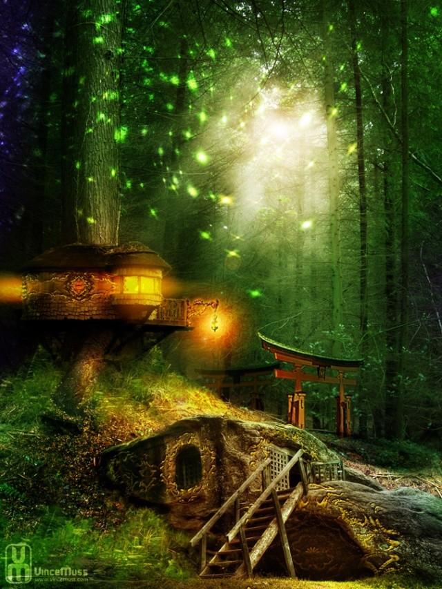 De toile, de bois ou de bric et de broc : les cabanes. Maison10