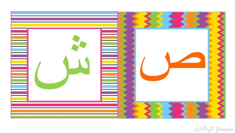 carte d'alphabet Arabe -e10