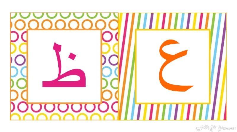 carte d'alphabet Arabe A-10