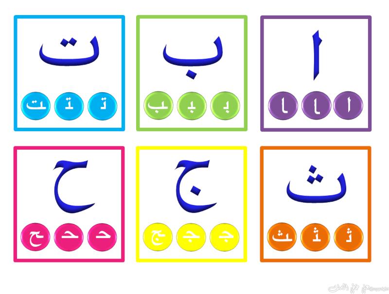 Carte d'alphabet arabe (avec début/milieu /fin) Hourou11