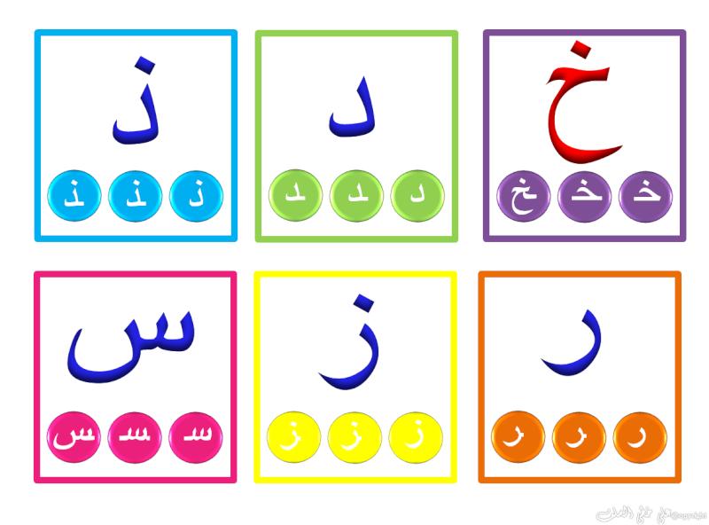 Carte d'alphabet arabe (avec début/milieu /fin) Hourou12