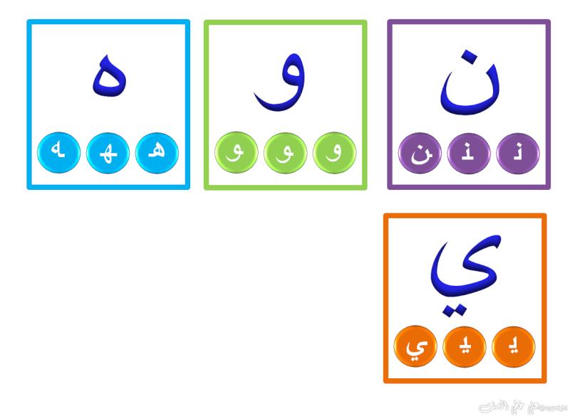 Carte d'alphabet arabe (avec début/milieu /fin) Hourou15