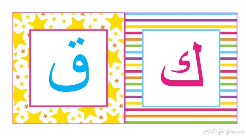carte d'alphabet Arabe I-d10
