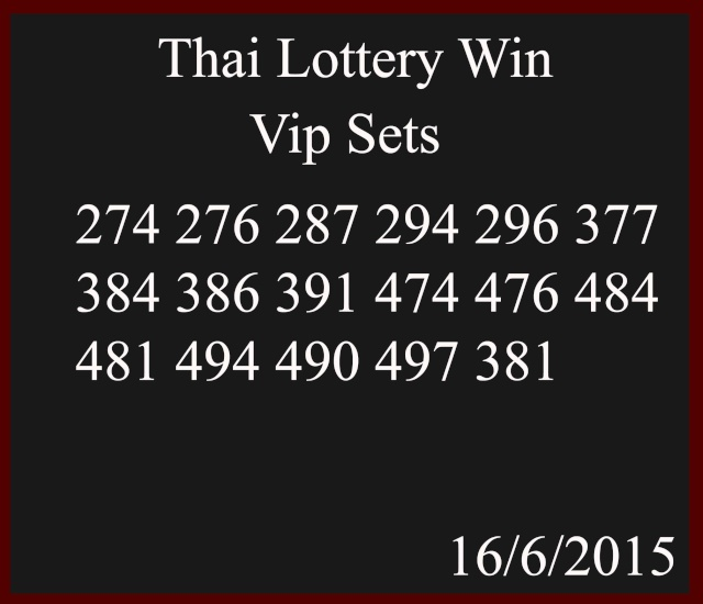 16.6.2015 free tips - Page 2 Thailo12