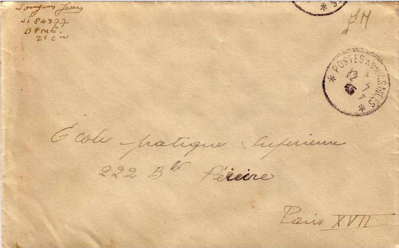 bureau postal militaire n° 6 Bpm610