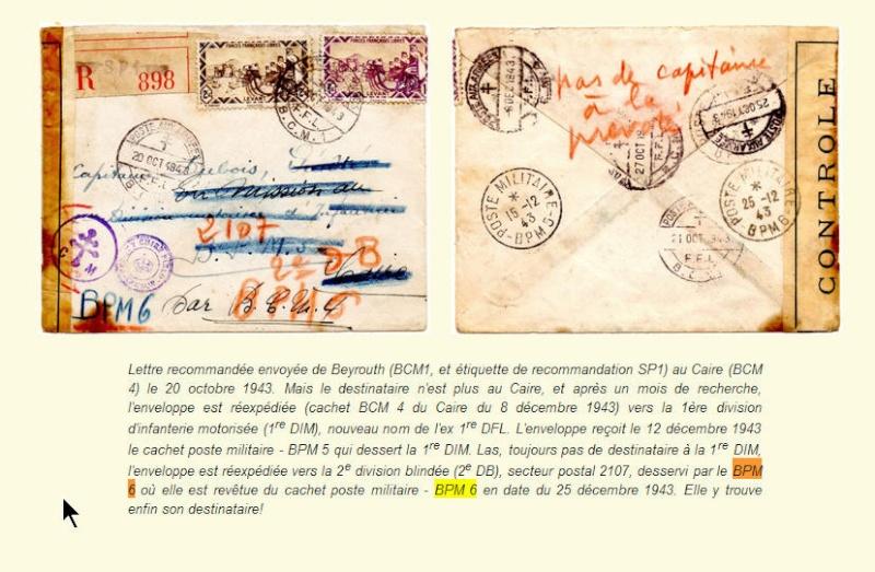 bureau postal militaire n° 6 Bpm61010