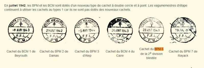 bureau postal militaire n° 6 Bpm6810