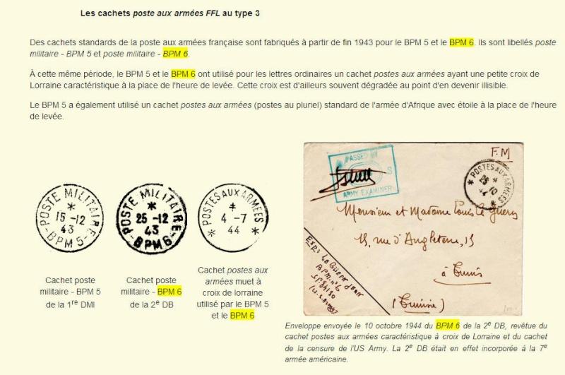 bureau postal militaire n° 6 Bpm6910