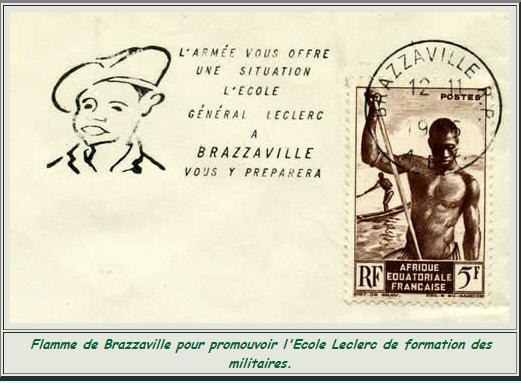 Cachet école général  LECLERC à Brazzaville 1955 Brazza10