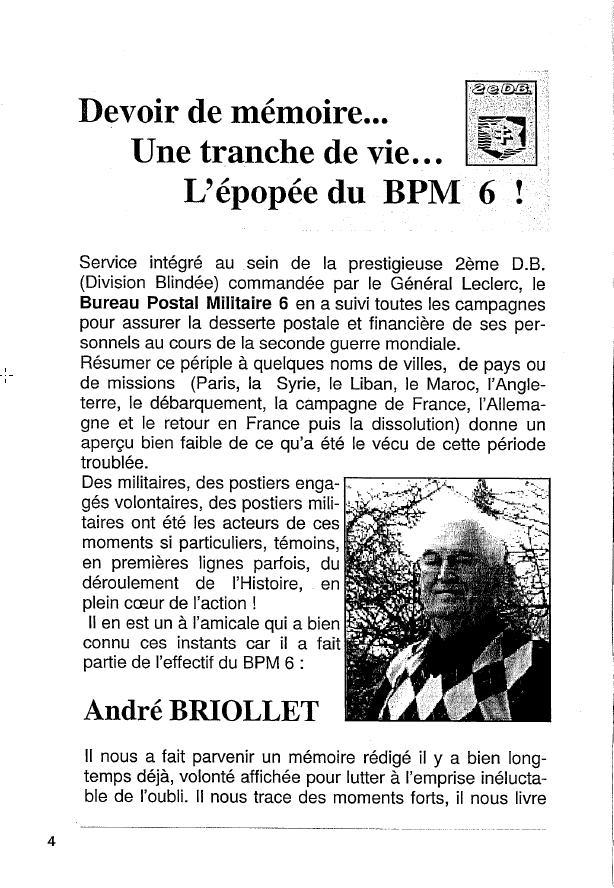 Historique du BPM6 par André BRIOLLET Huchet10