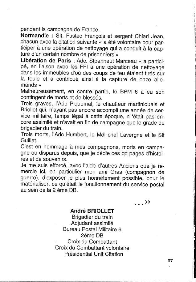 Historique du BPM6 par André BRIOLLET Huchet46