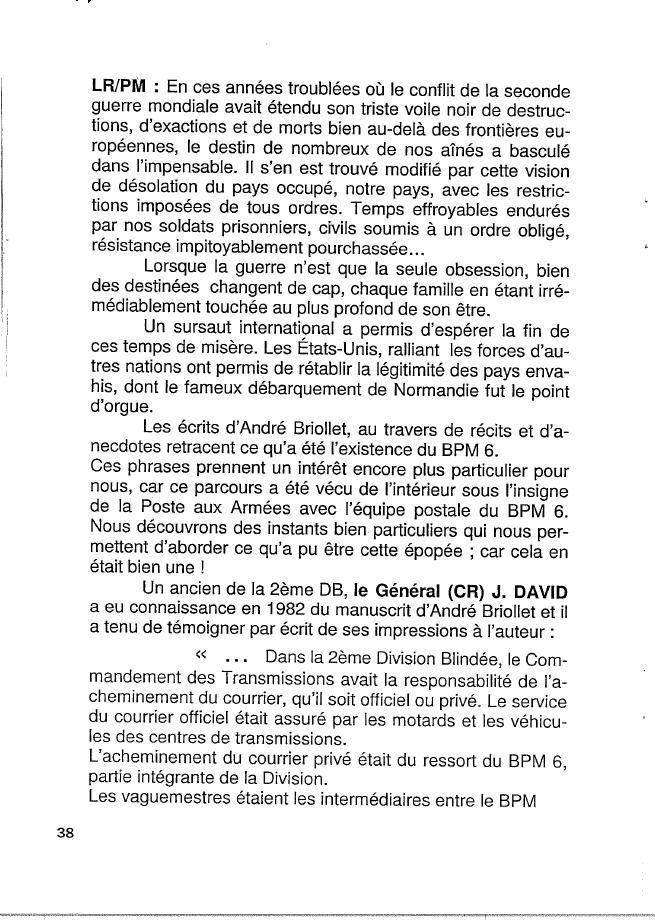 Historique du BPM6 par André BRIOLLET Huchet47