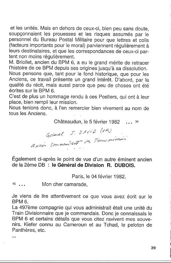 Historique du BPM6 par André BRIOLLET Huchet48