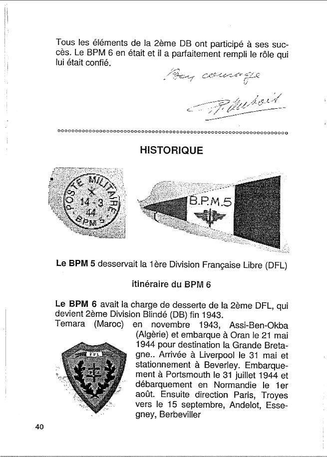 Historique du BPM6 par André BRIOLLET Huchet49