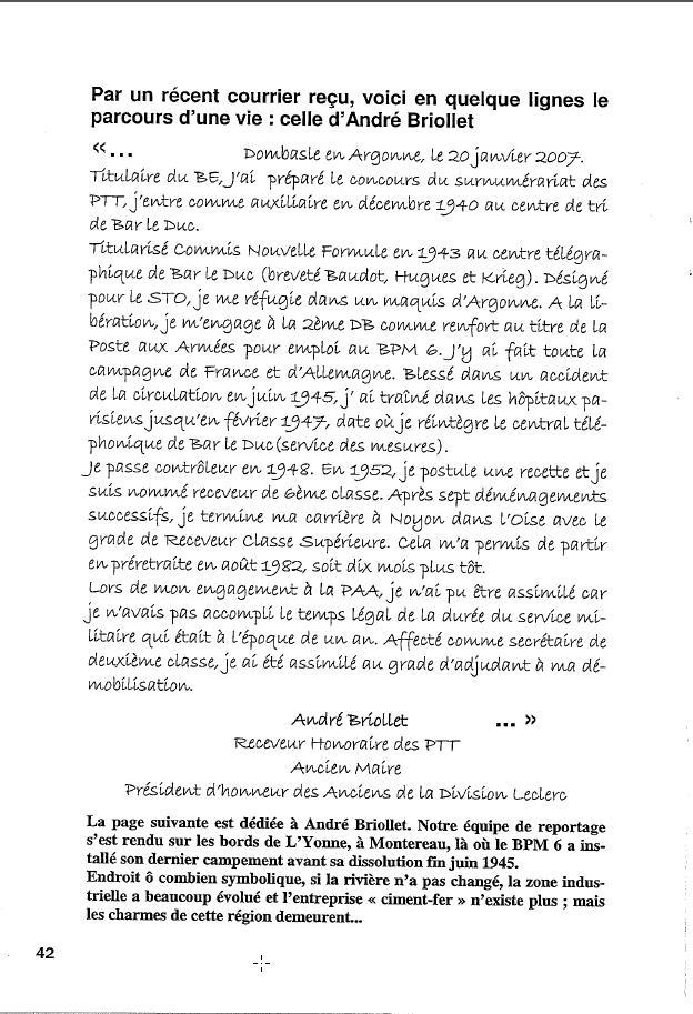 Historique du BPM6 par André BRIOLLET Huchet51