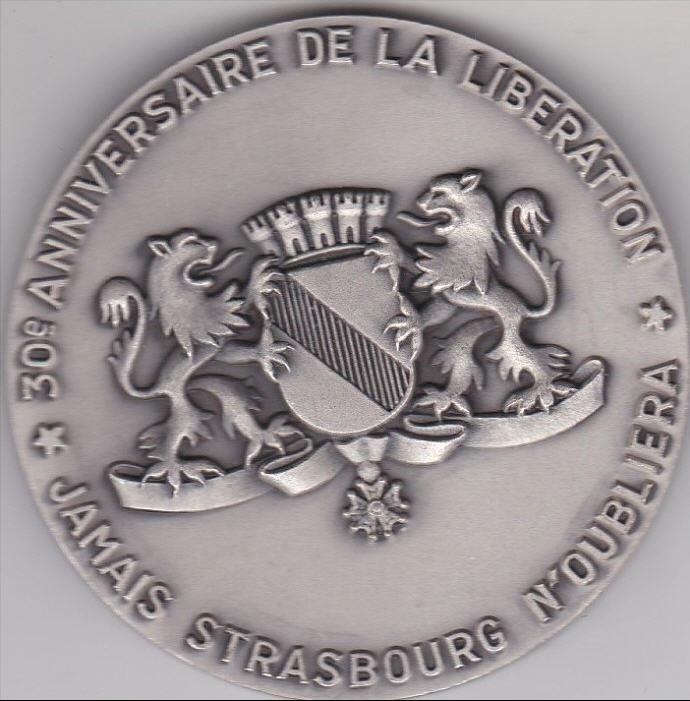 Strasbourg 1969 ,1974,1984,1987,1997,2014,médaille,vignettes M_lecl10