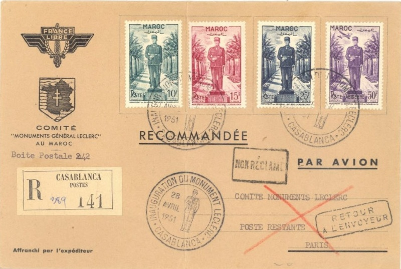 Maroc  28.4.1951 Casablanca Rabat Maroc110