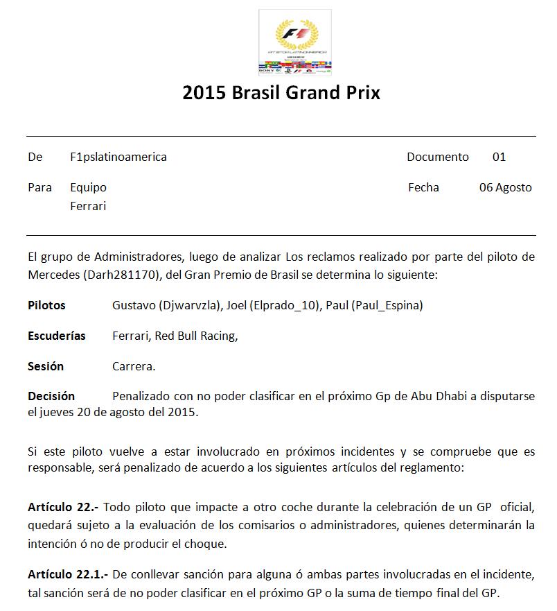 Incidentes GP de Brasil Imagen15