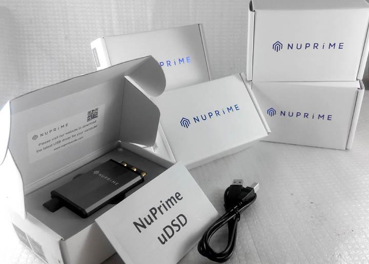NuPrime uDSD -portable DAC. Decodes 24-bit PCM384 & native DSD256 files. Udsd611