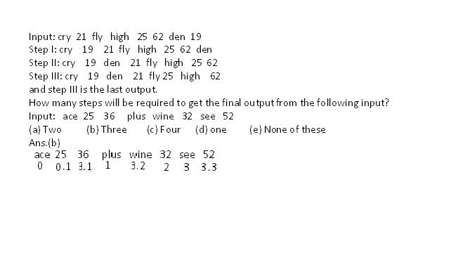 Reasoning Questions for IBPS Exams  A10
