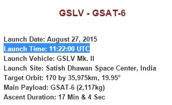 GSLV MkII D6 (GSAT-6) - 27.8.2015 Scree164