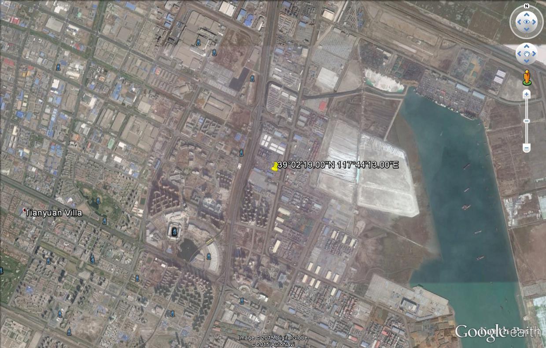 Explosion de Tianjin  en Chine: l'endroit sur GOOGLE EARTH Ex_chi10