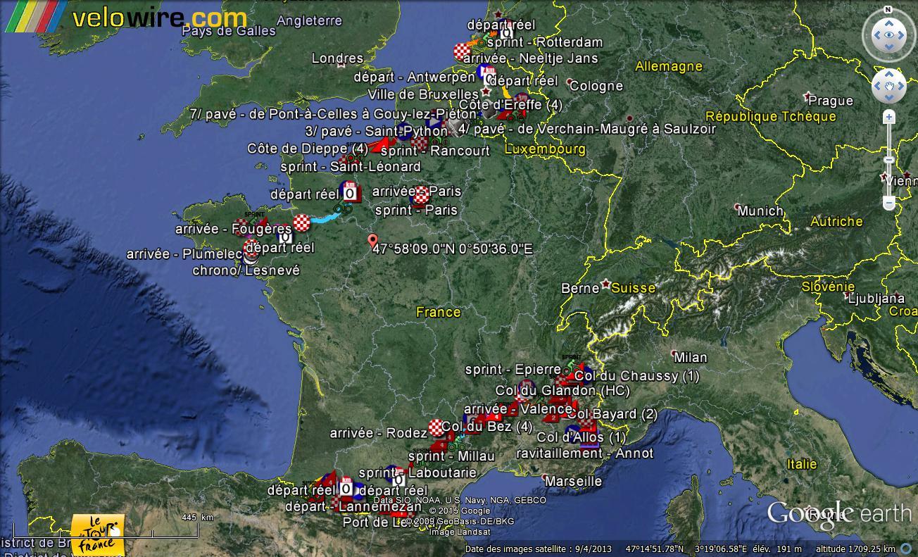 Le parcours du Tour de France 2015 dans Google Earth Tour_211