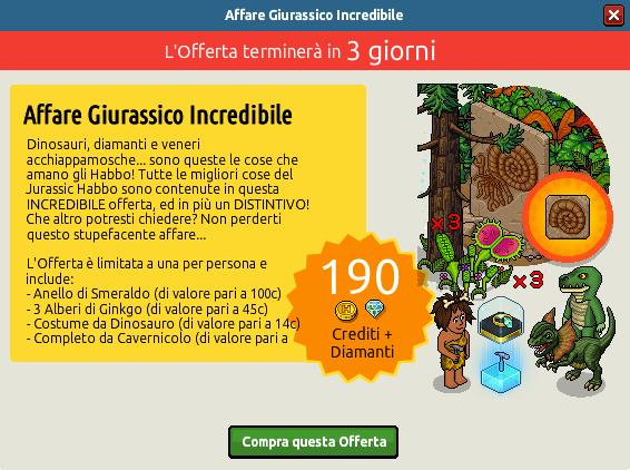"""[ALL] Offerta """"Affare Giurassico Incredibile"""" con Fossile Ammonoidea 120"""