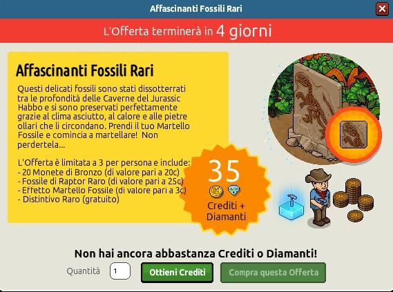 "[ALL] Offerta ""Affascinanti Fossili Rari"" - Raro Fossile Raptor 134"