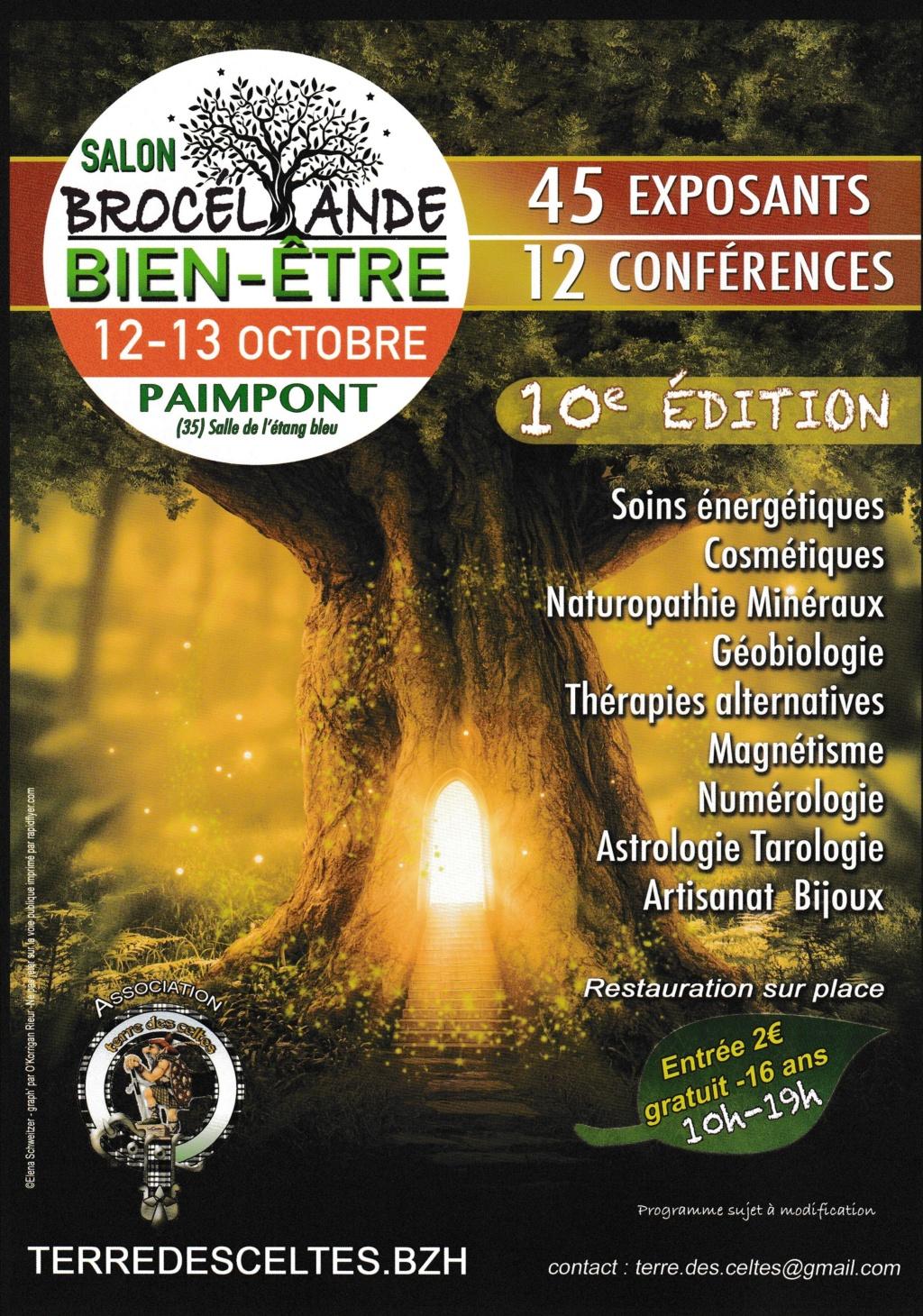 Salon du bien-être à Paimpont - 12 13 octobre 2019 Affich10
