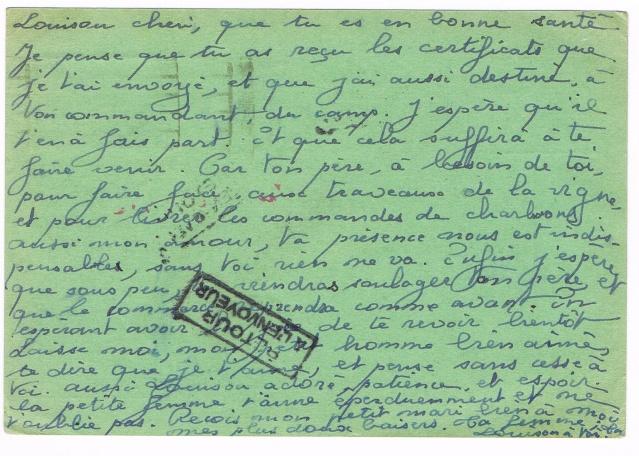 CARTE POSTALE FRANCHISE MILITAIRE PRIORITE pour un prisonnier envoyé  au Feldpostnummer 32000   Ccf21011