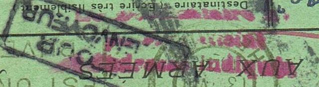 CARTE POSTALE FRANCHISE MILITAIRE PRIORITE pour un prisonnier envoyé  au Feldpostnummer 32000   Ccf21012
