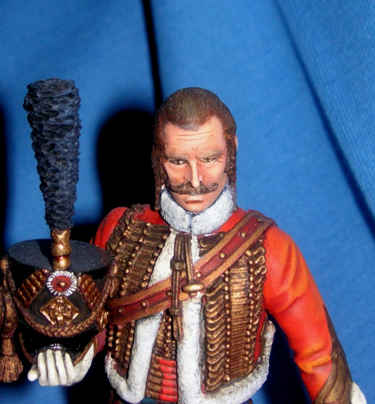 Capitaine du 4ème Hussard 1er Empire 12460311