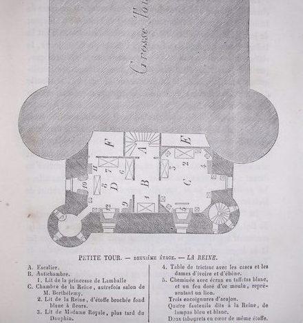 Plans et aménagements du donjon du Temple : la grande tour, la petite tour Tour_d11
