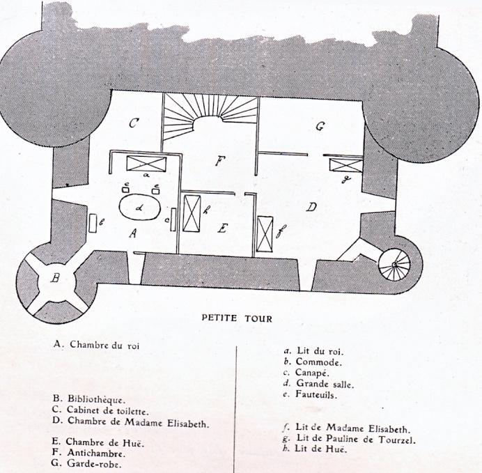 Plans et aménagements du donjon du Temple : la grande tour, la petite tour Tour_d12