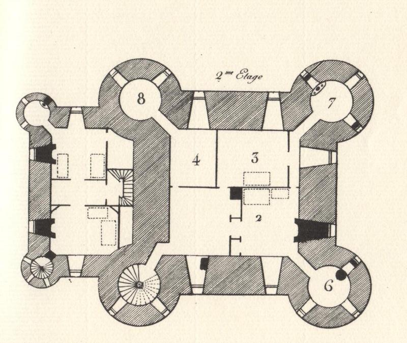 Plans et aménagements du donjon du Temple : la grande tour, la petite tour Tour_d13