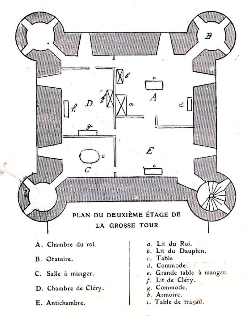 Plans et aménagements du donjon du Temple : la grande tour, la petite tour Tour_d14