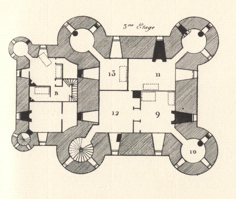 Plans et aménagements du donjon du Temple : la grande tour, la petite tour Tour_d15
