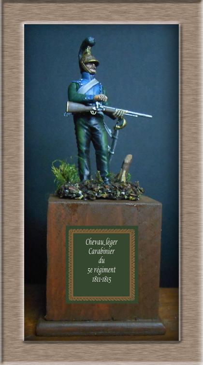 Chevau-léger Carabinier du 5e régiment MM 54mm modification 74_16812
