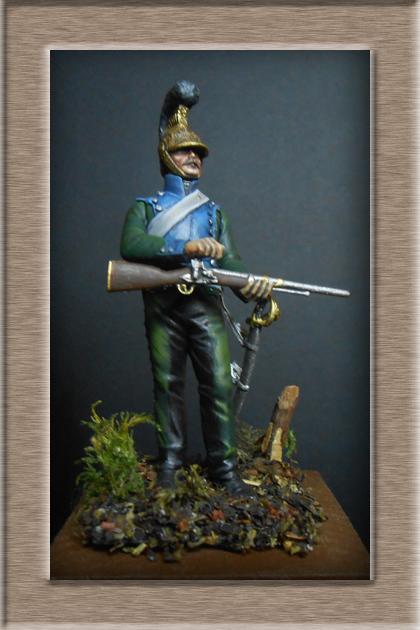 Chevau-léger Carabinier du 5e régiment MM 54mm modification 74_16913