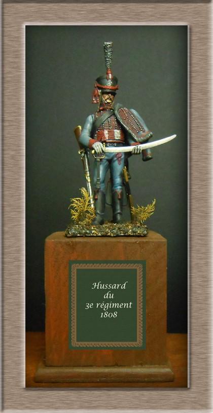Hussard du 3e régiment 1808 Métal modèles 54mm 74_18711