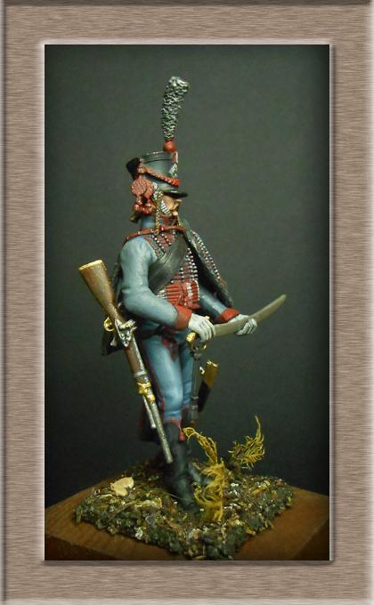 Hussard du 3e régiment 1808 Métal modèles 54mm 74_18914