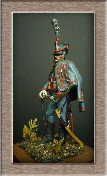 Hussard du 3e régiment 1808 Métal modèles 54mm 74_18915