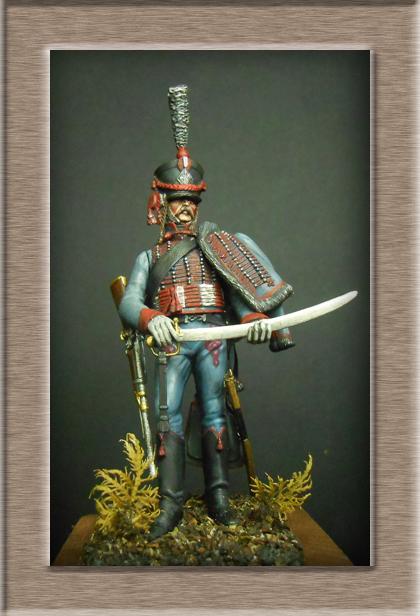 Hussard du 3e régiment 1808 Métal modèles 54mm 74_19011