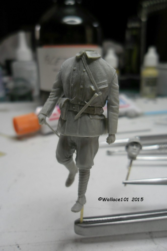 Tankiste français 1917 54mm (GSTE023) Acryliques (Tuto) Fini 04070010