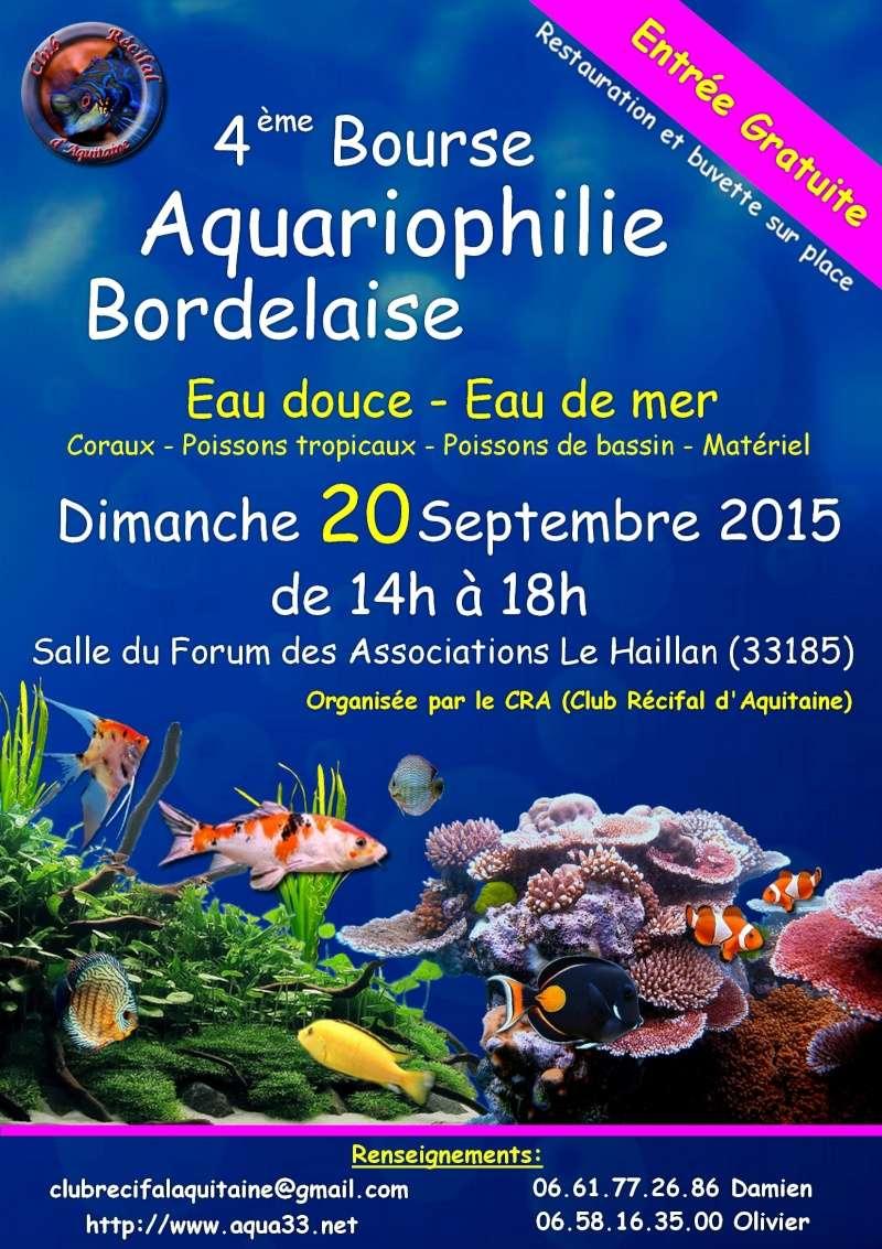 Bourse Aquariophile de Bordeaux 2015 Affich10