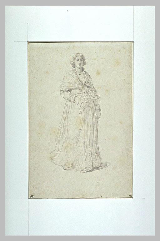 Marie-Antoinette par Delaroche Etude_10