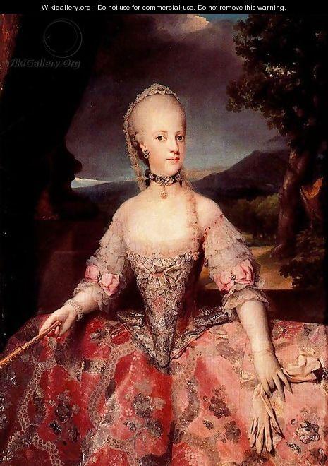 Marie-Antoinette au Château du Cambon Painti10