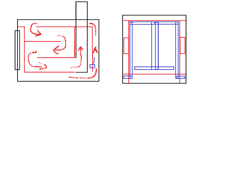 Rocket stove insert for existing outside wood boiler  ????? Boiler10