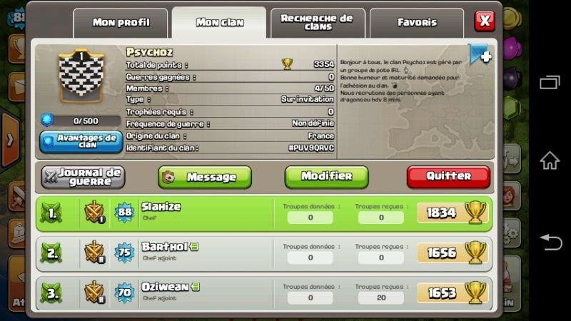 Clash of clans (Le clan au même nom que la guilde .. :D) Screen10